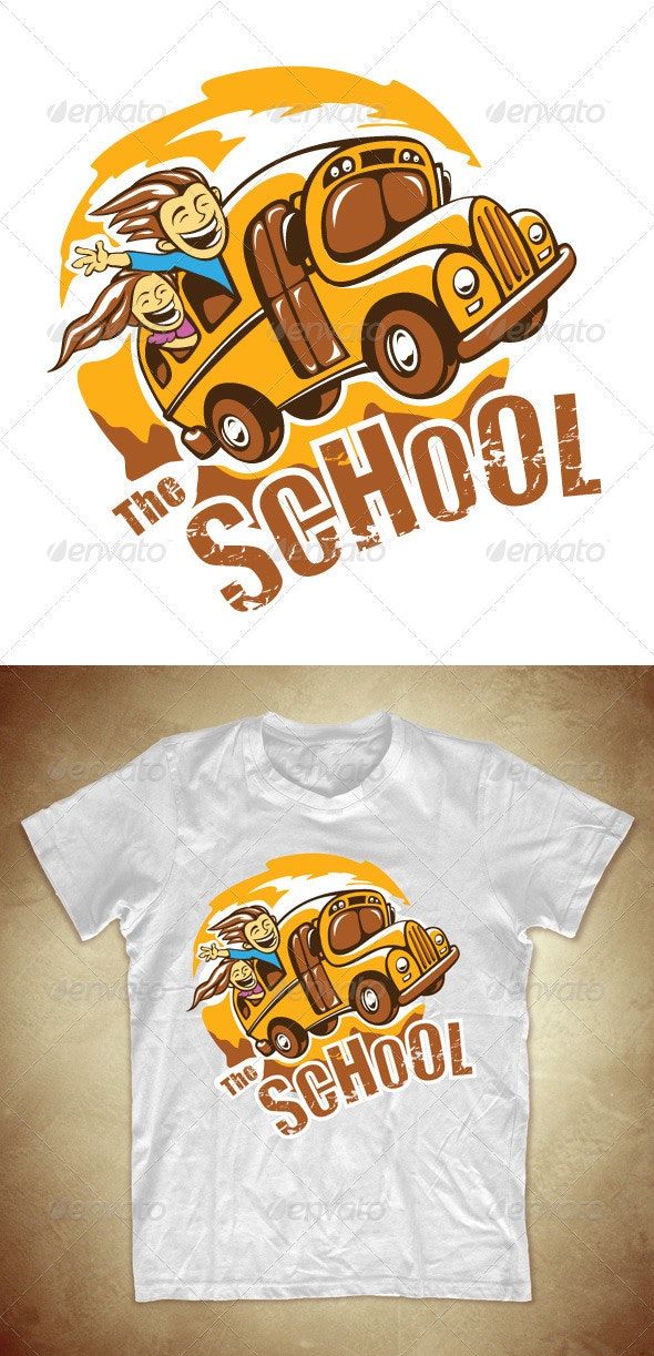 T-shirt design with school bus - Events T-Shirts