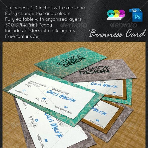 Interior Design Card