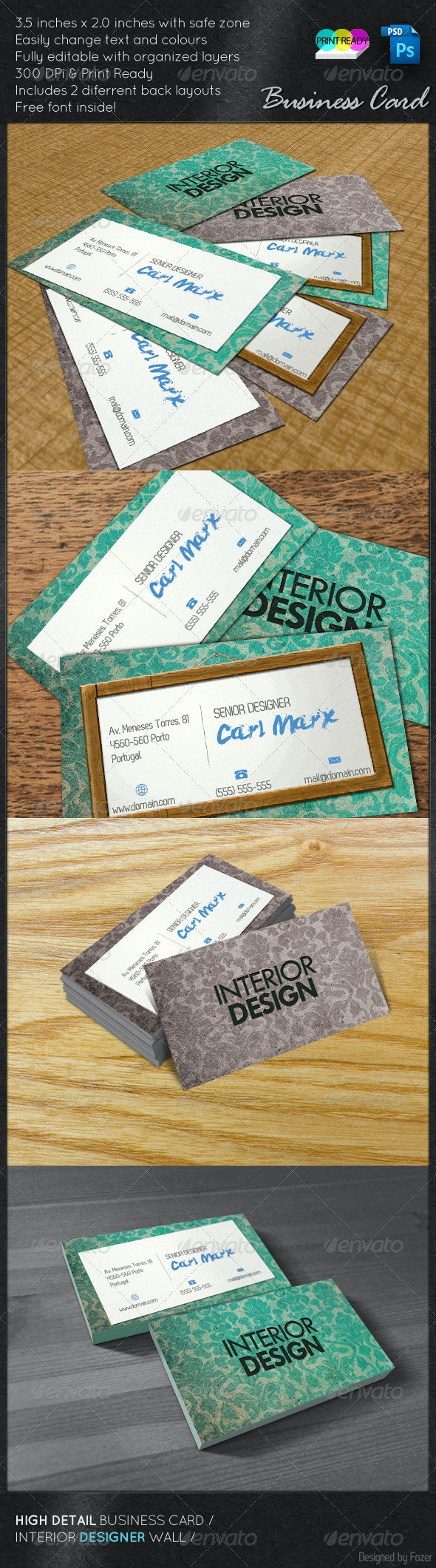 Interior Design Card - Creative Business Cards