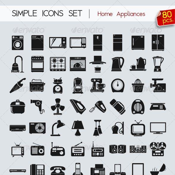 80 Simple icons • Appliances •