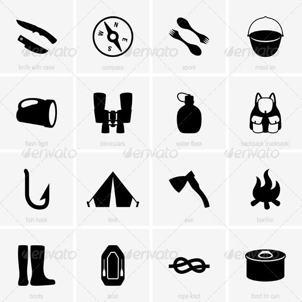 Travel Object Icons - Travel Conceptual