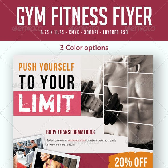Gym / Fitness Flyer Print Ad