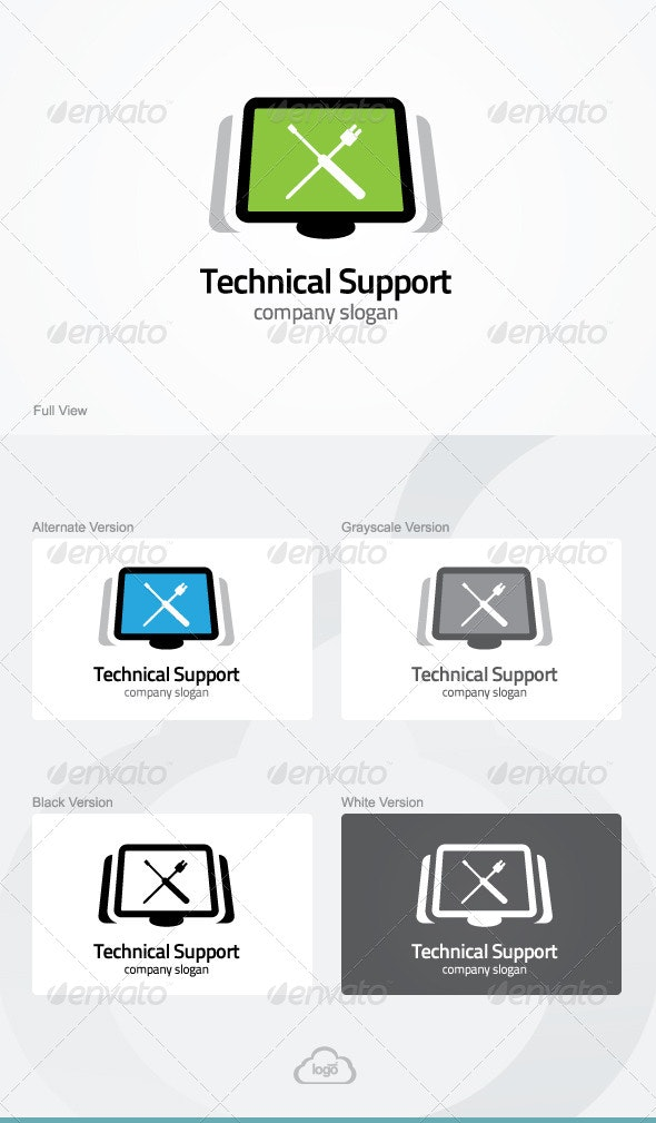 Technical Support Logo Template