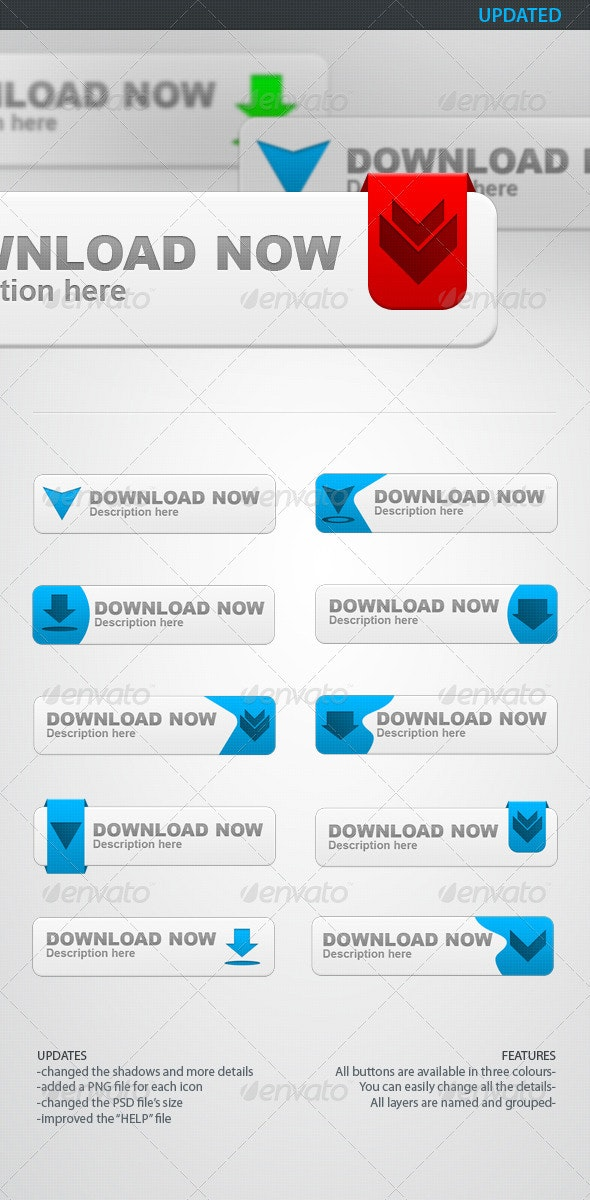 Download Buttons PSD - Buttons Web Elements
