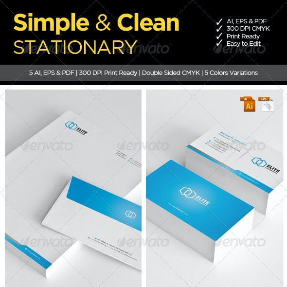 Simple and Clean Stationary 1
