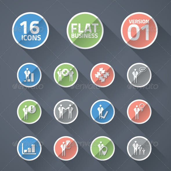 Flat business icons 01