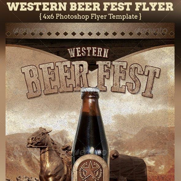 Western Beer Fest Flyer Template