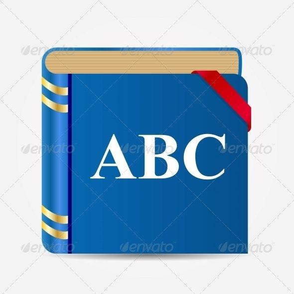 Book Icon Illustration - Web Technology