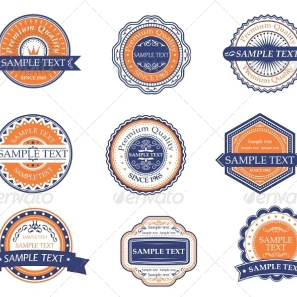 Retro Labels and Frames