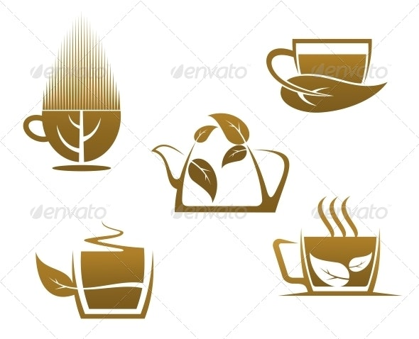 Herbal Tea Cups - Food Objects
