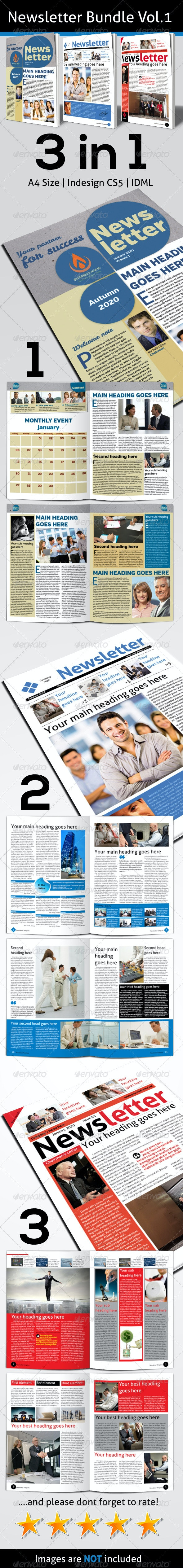 Newsletter Bundle Vol.1 - Newsletters Print Templates