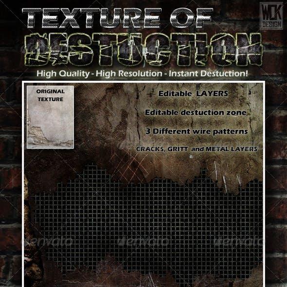 Destructible Wall Background Texture