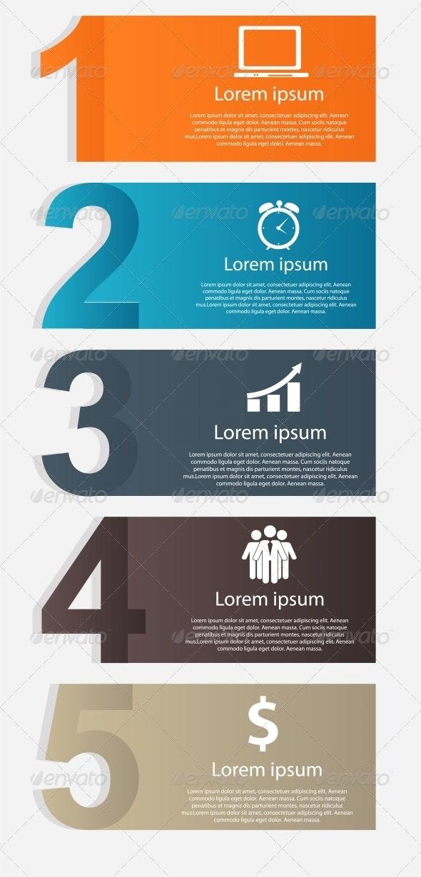 Infographics Design Elements Vector Illustration - Infographics