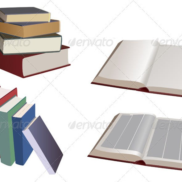 Set of the books - vector