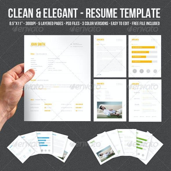 Clean & Elegant - Resume Template