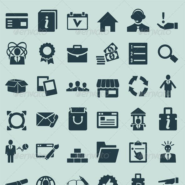 Set of service and social media icons