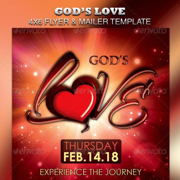 God's Love Flyer & Mailer Template