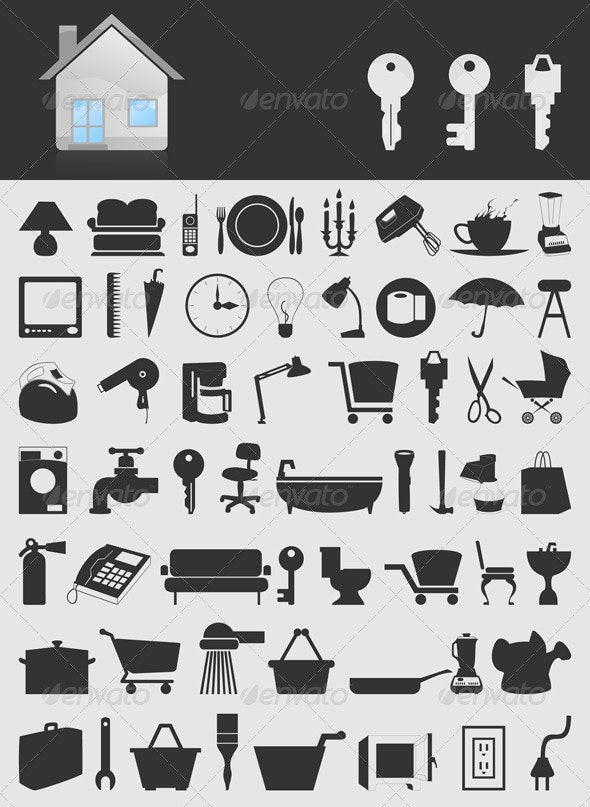 House icons2 - Man-made Objects Objects