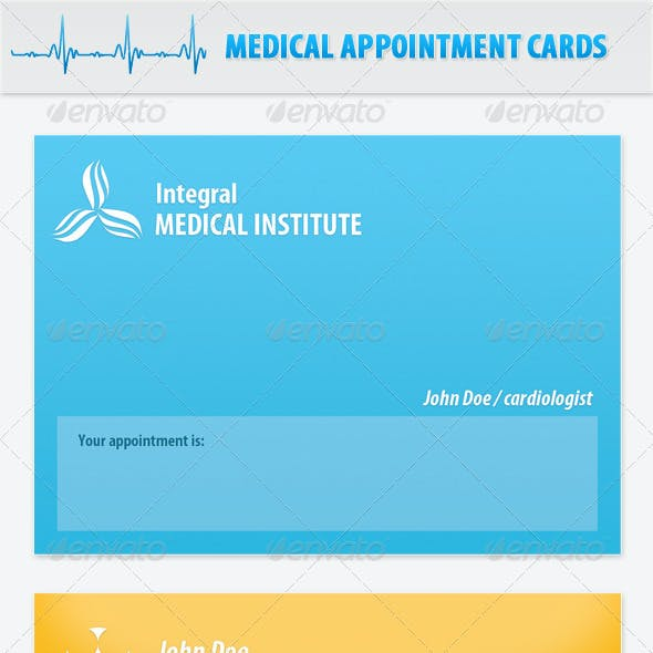 Appointment Medical Doctor Cards or Block Notes