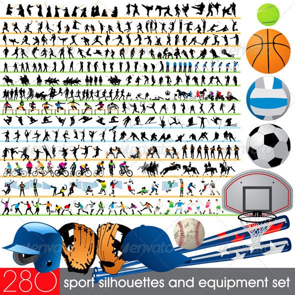 280 Sport Silhouettes and Equipment Set