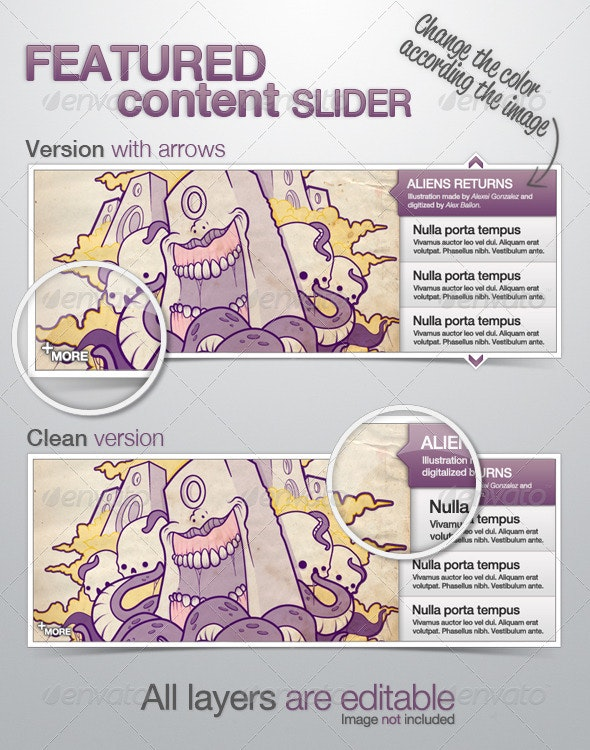 Featured Content Slider - Sliders & Features Web Elements