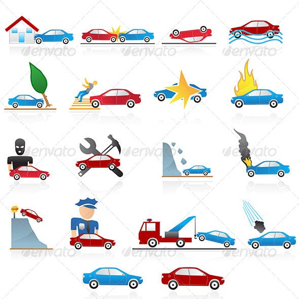 Car Problems Icons