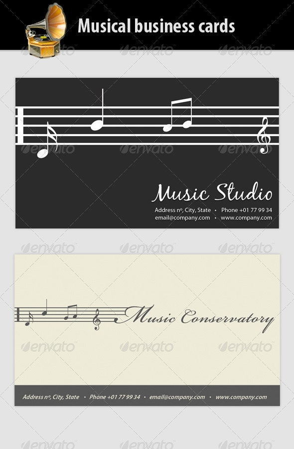 Musical Business Card - Industry Specific Business Cards