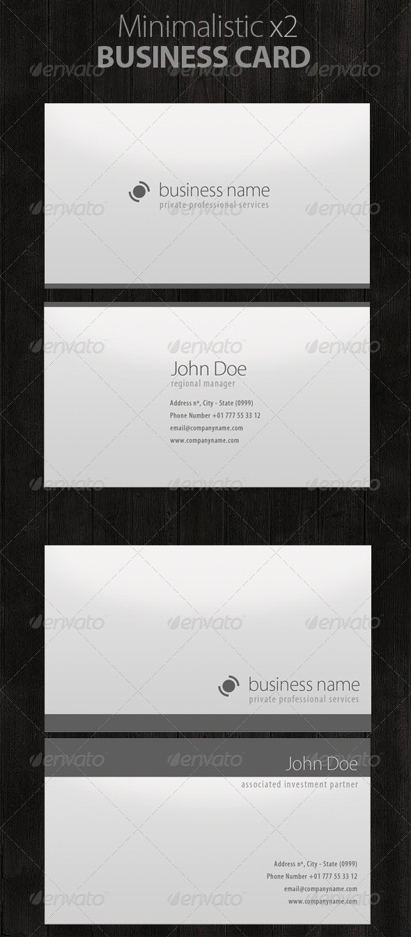 Minimalistic Business Cards! - Corporate Business Cards