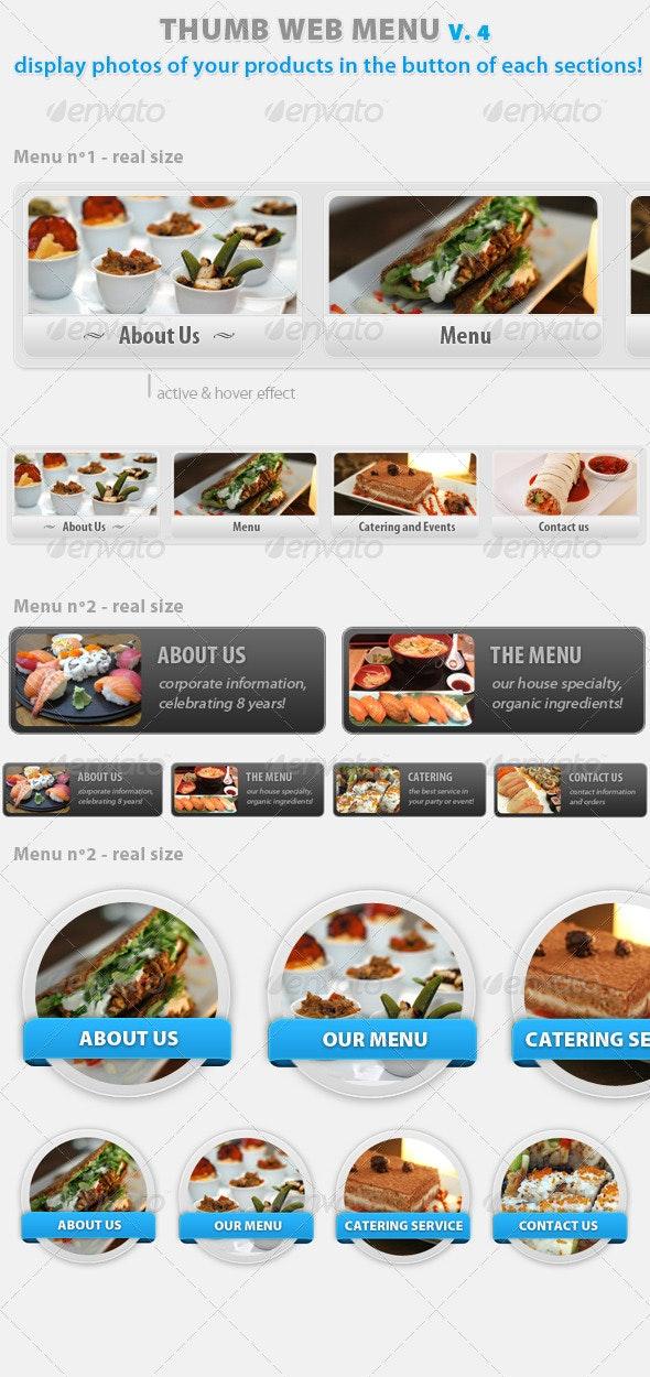 Thumb Menu Navigation Pack V.4 - Web Elements