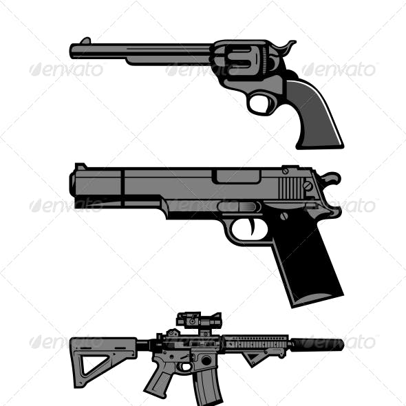 Guns Vector Set