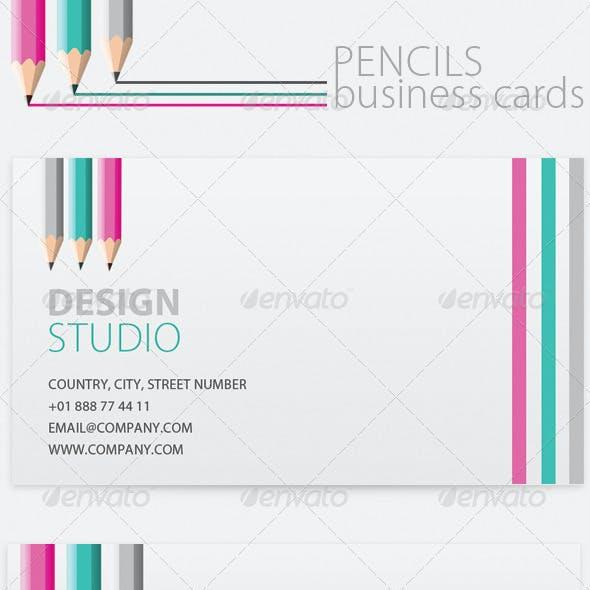 5 x Pencil Business Cards for Artist / Designer / Writer