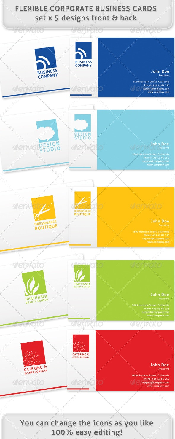 Flexible and multiple business cards !! - Creative Business Cards