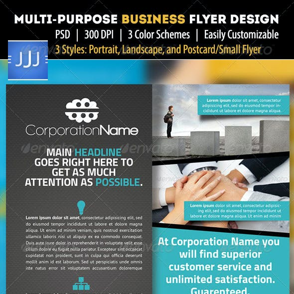 Multipurpose Business Flyer 7 with Postcard