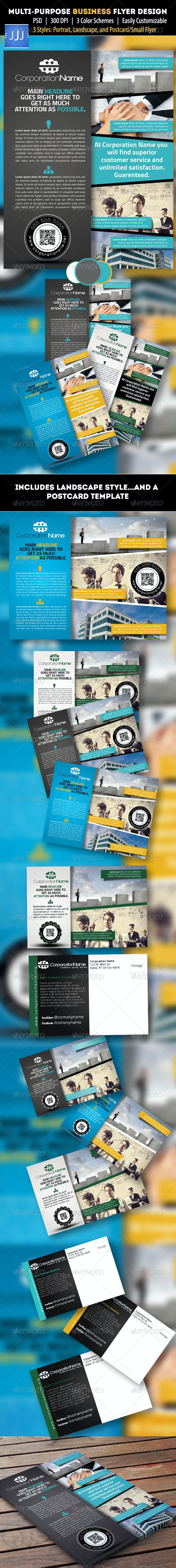Multipurpose Business Flyer 7 with Postcard - Corporate Flyers