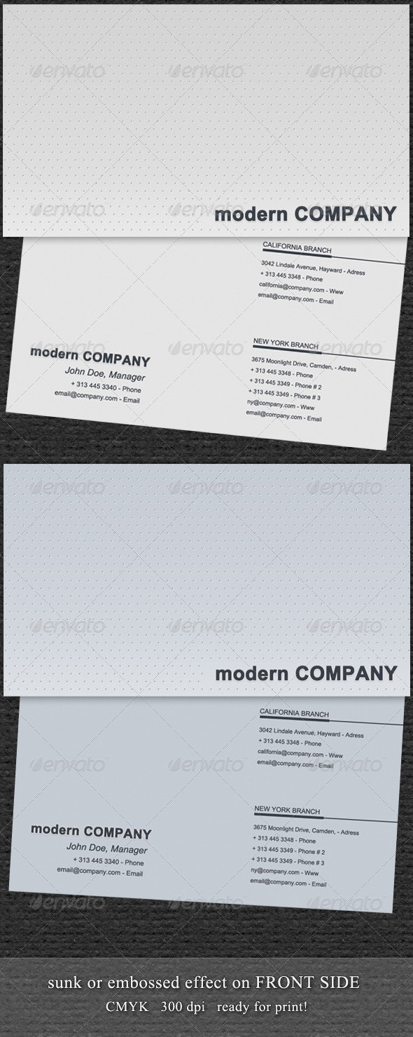 Modern emboss dots business card - Corporate Business Cards