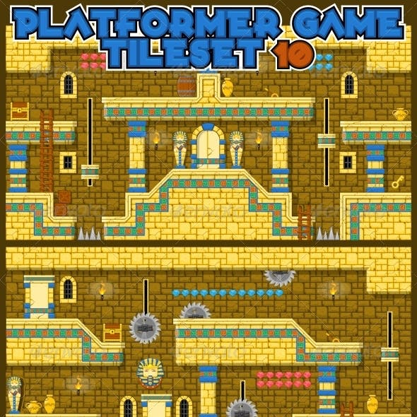 Platformer Game Tile Set 10