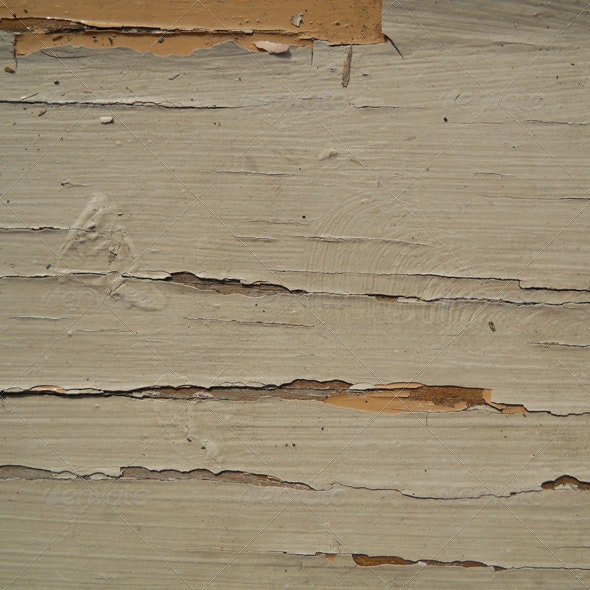Grundge Wooden Wall Texture With Paint Cracks - Wood Textures
