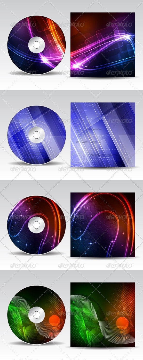 CD cover design pack - Backgrounds Decorative