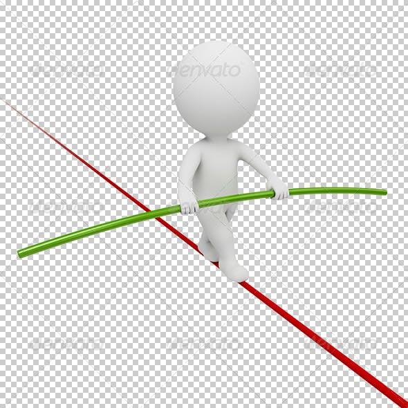 3d small people - acrobat