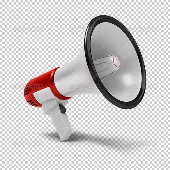 megaphone - Objects 3D Renders