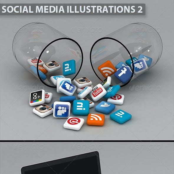 Social Media Illustrations 2