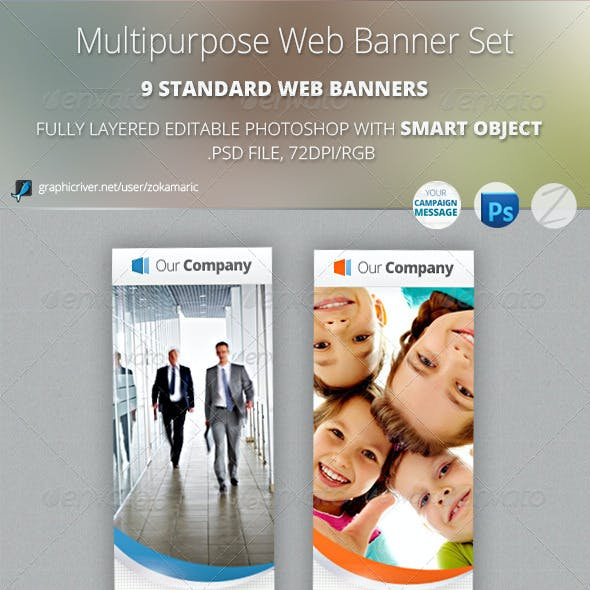 Multipurpose Web Banner Set