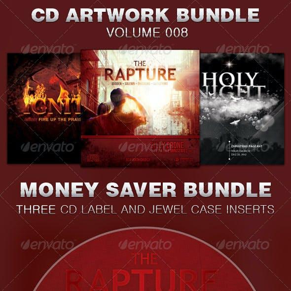 CD Cover Artwork Template Bundle-Vol 008
