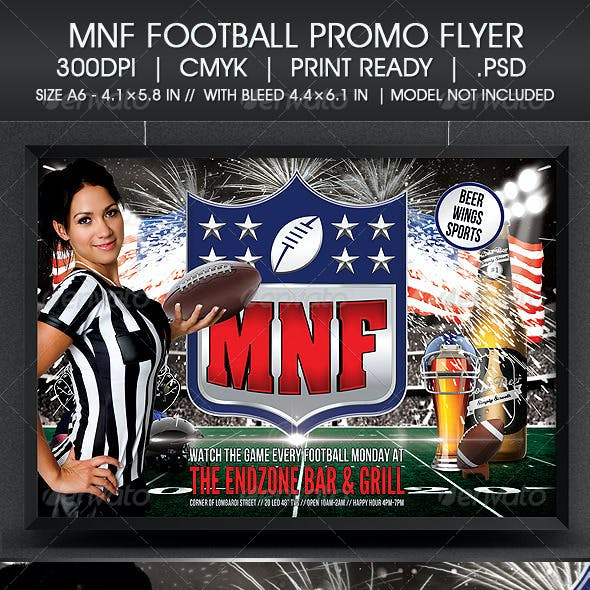 MNF Football Promo Flyer