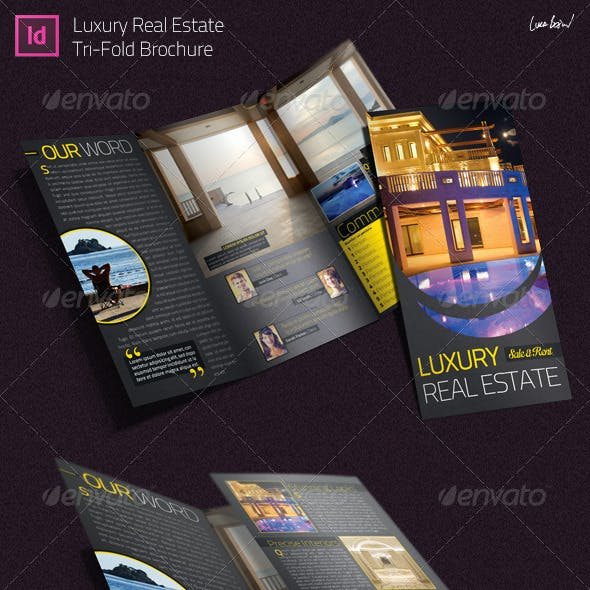 Luxury Real Estate - Indesign Trifold Brochure