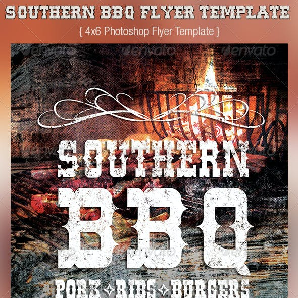 Southern BBQ Flyer Template