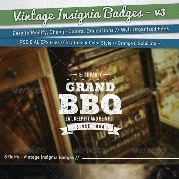 Vintage Insignia Badges | Volume 3