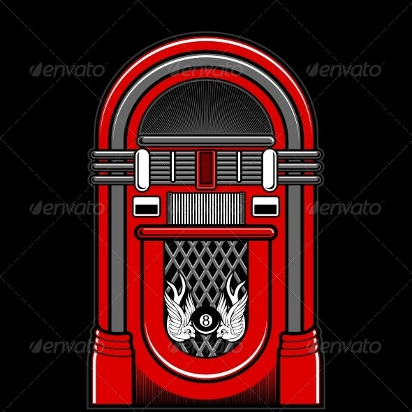 Classic Jukebox Vector