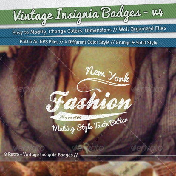 Vintage Insignia Badges | Volume 4