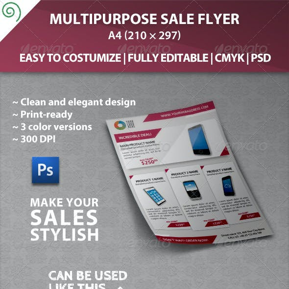 Multipurpose Sale Flyer Template